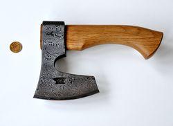 топор Тайга-0 из дамасской стали