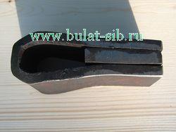 Заготовка топора до кузнечной сварки с вваренным сердечником из более твёрдой стали
